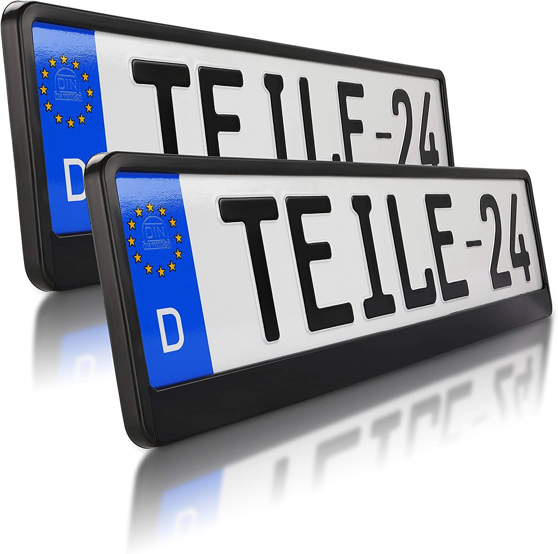 2 X Kennzeichenhalter Schwarz Kennzeichenhalterung 520 X 110 Mm Im Set Mit 8 Befestigungsschrauben 8 Unterlegscheiben Montageanleitung Alles Neu Ovp Top Angebot Auto