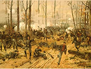 Wee Blue Coo Prints WAR American Civil Battle Shiloh USA New FINE Art Print Poster Picture 30x40 CMS CC5664