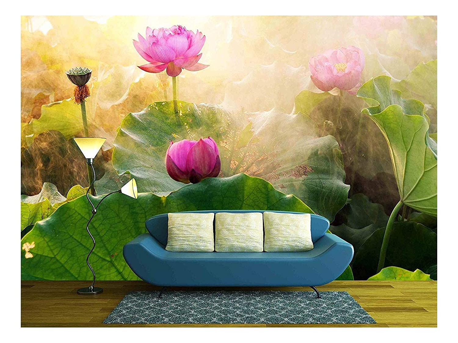 Amazoncom Wall26 Beautiful Lotus Flower In Blooming At Sunset