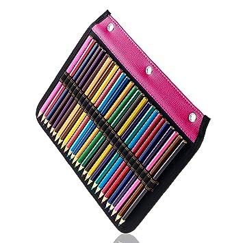 YOUSHARES 54 ranuras estuche para lápices – Archivador diseñado página compatible con 216 ranuras estuche para lápices de acuarela, bolígrafo de gel y ...