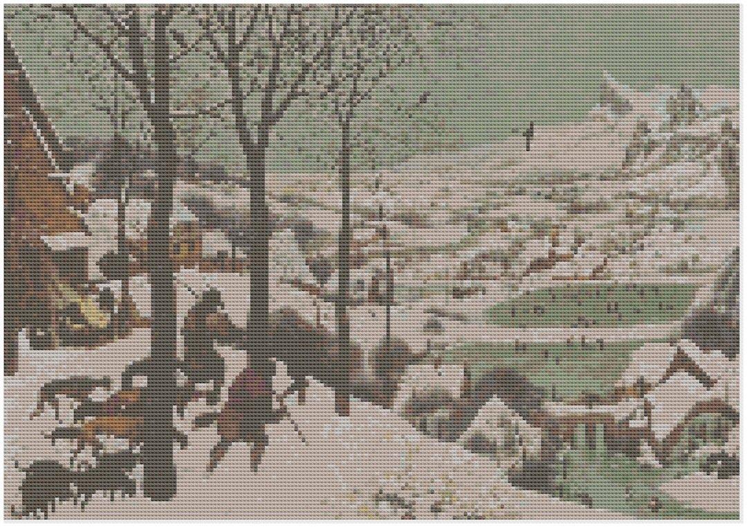 Breughel chasseurs Snow Kit de broderie au point de croix