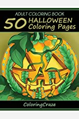 Adult Coloring Book: 50 Halloween Coloring Pages (Halloween Collection) Paperback