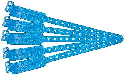 Lote de 100 pulseras holográficas de vinilo con estrellas azules