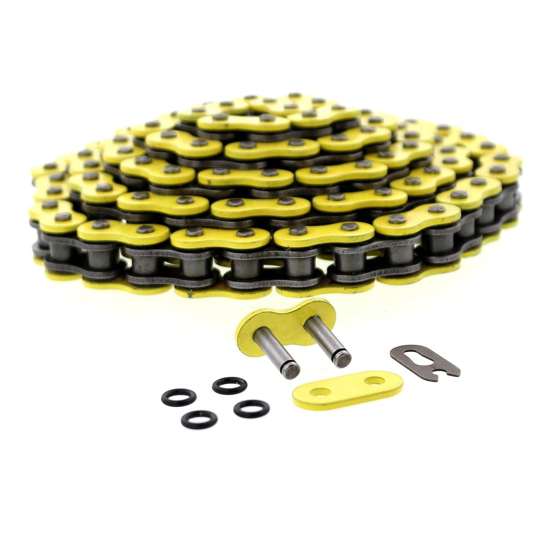 01-05 Yamaha YFM660 660 Raptor Yellow O-Ring Chain /& Black Sprockets 13//41 94L