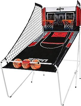 ESPN Juego de Baloncesto con Juego preestablecido, Marcador LED, 3 Pelotas de Baloncesto y Bomba Interior y hogar: Amazon.es: Juguetes y juegos