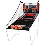 ESPN Indoor Home 2 Player Hoop Dual Shootout Basketball Arcade Game with Preset Games, LED Scoreboard, Side Netting, 3…