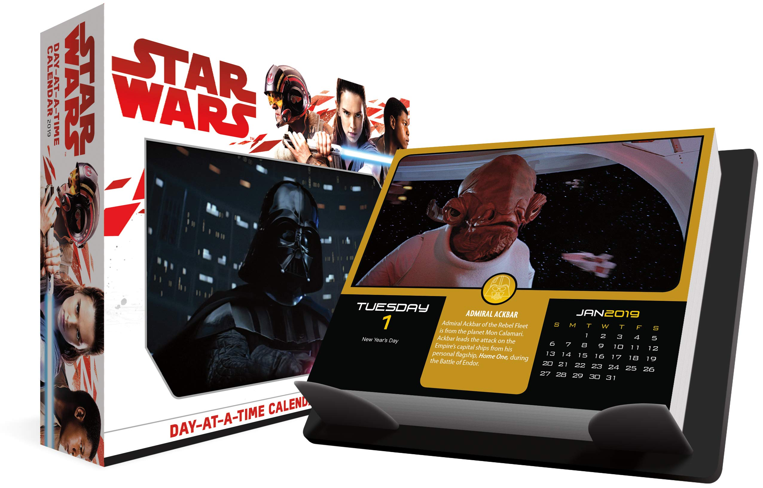 2019 Star Wars Day At A Time Calendar 0057668890177 Trends International Books