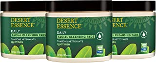 product image for Desert Essence Natural Tea Tree Oil Facial Cleansing Pads - 50 Count - Pack of 3 - Face Cleanser - Soothes & Calms Skin - Makeup Remover Pads - Removes Oil & Dirt - Great for Travel - Essential Oils