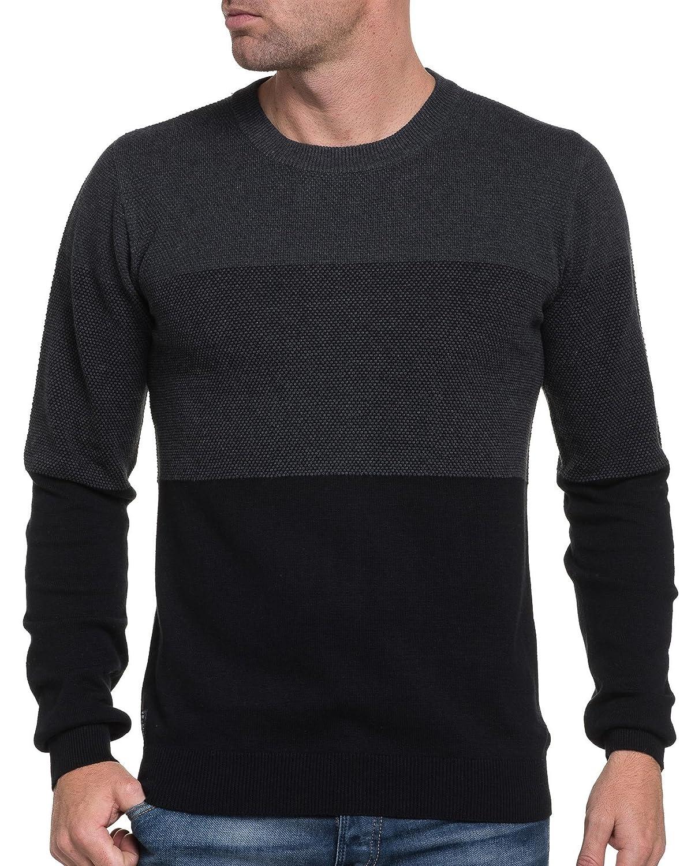 Deeluxe 74 - tricolor man sweater embossed black mesh