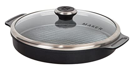 MAKER Homeware Round Steam Grill Pan