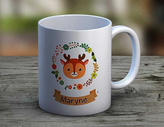 Petit Mug Cerf À Tasse Personnalisé Café Anniversaire Personnaliser Cadeau Prénom fY6gvb7y