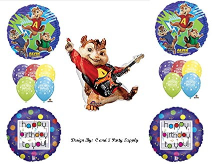 ALVIN AND THE CHIPMUNKS Happy Birthday PARTY Balloons Decorations Supplies