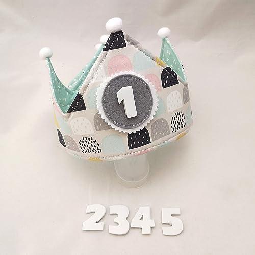 Corona cumpleaños reversible tela: Amazon.es: Handmade