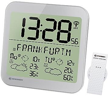 Bresser Estación meteorológica LCD con reloj, de pared, con ...