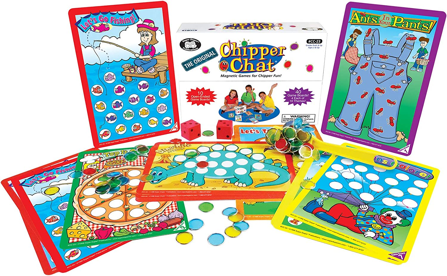 1586501747 Super Duper Publications The Original Chipper Chat Magnetic Open-Ended Games for Speech and Language Educational Learning Resource for Children 81eJbMIiQRL
