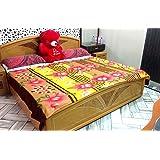 Sneha Latest & Colorful Polar Fleece Double Bed Blanket Set of 1 (Multi-Colors)