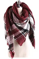 ReachMe Womens Blanket Scarves Warm Oversized Blanket Shawl Wrap Holiday Gifts