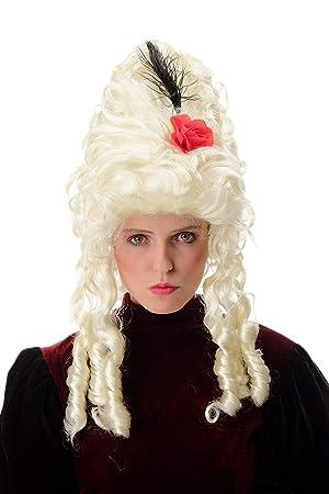 WIG ME UP ® - PT0045-P613 Peluca Mujer Carnaval Barroco Renacimiento Colmena Noble Reina