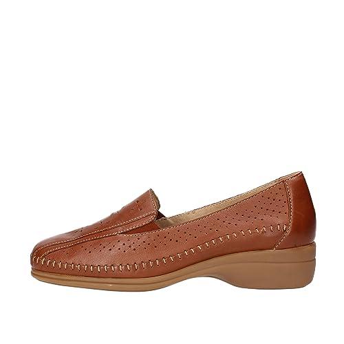 Cinzia Soft - Mocasines de Piel para mujer marrón marrón marrón Size: 40 EU: Amazon.es: Zapatos y complementos