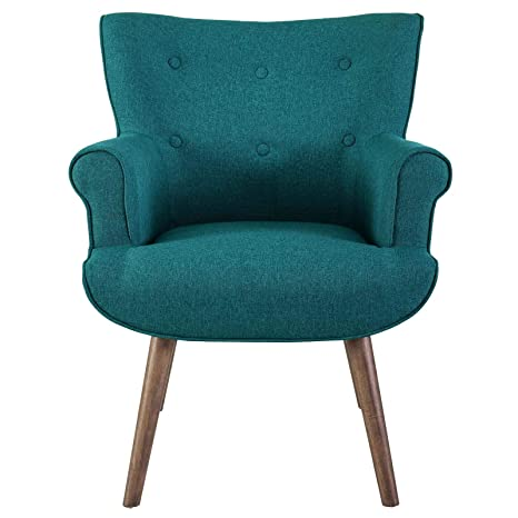 Wondrous Modway Cloud Mid Century Modern Upholstered Fabric Accent Arm Chair In Teal Caraccident5 Cool Chair Designs And Ideas Caraccident5Info