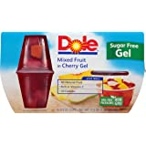 Dole Fruit Bowls, Mixed Fruit in Sugar Free Cherry Gel, 4.3 Ounce (Pack of 4)