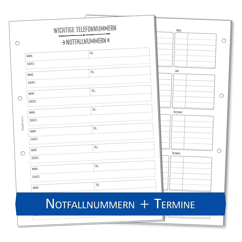 flexiNotes WOCHENKALENDER 2019 A4 Kalendereinlage Family 1 Woche 2 Seiten