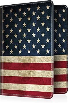 USA Passport Holder American Flag Passport Cover 2-pack Full Color Passport Covers Wallet US Flag
