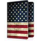Fintie Passport Holder Travel Wallet RFID Blocking PU Leather Card Case Cover, US Flag