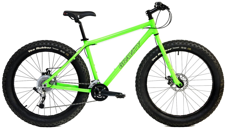アルミ製ファットバイク 強力ディスクブレーキ グラビティーモンスター メンズ 太いタイヤの自転車26 インチx 4 インチ B01N3S9Q74 18in|グリーン グリーン 18in
