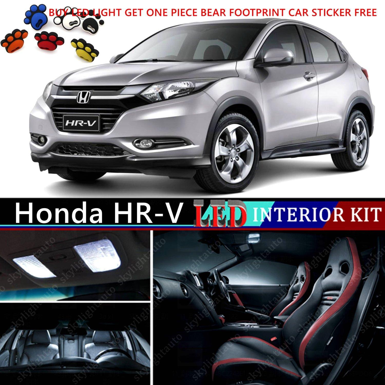 Amazon.com: 13pcs LED Premium Xenon White Light Interior Package Deal For Honda  HR V 2012 2016: Automotive
