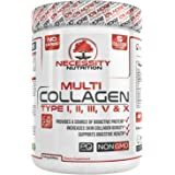 Multi-Collagen Protein Powder - High-Quality Blend of Grass-Fed Beef, Chicken, Wild Fish and Eggshell Collagen Peptides, Providing Type I, II, III, V and X