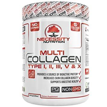 Multi-Collagen Protein Powder 32 Servings High Quality Grass Fed Pasture Raised Beef Chicken Wild
