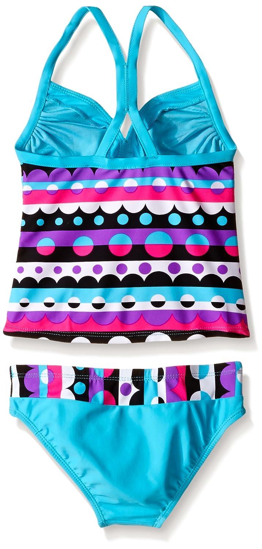 ZeroXposur Girls Bubblicious Tankini Swimsuit with Short