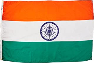 product image for Annin Flagmakers Model 193645 India Flag Nylon SolarGuard NYL-Glo, 4x6 ft, 100% Made in USA to Official United Nations Design Specifications