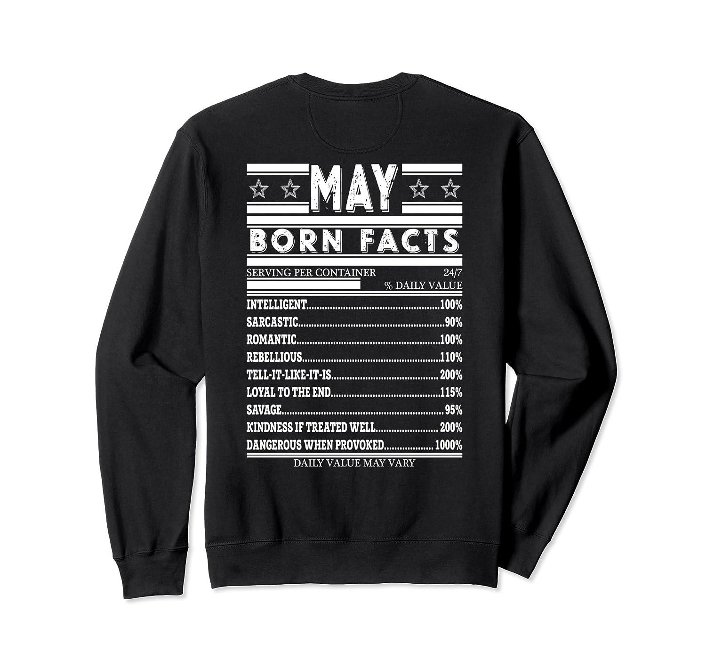 5ea675f2 Born In May Birthday Facts Sweatshirt-alottee gift - Alottee