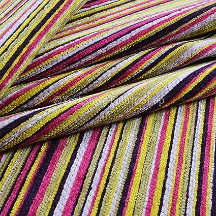 Exclusiva tela suave tejido de felpilla con patrón de rayas ...