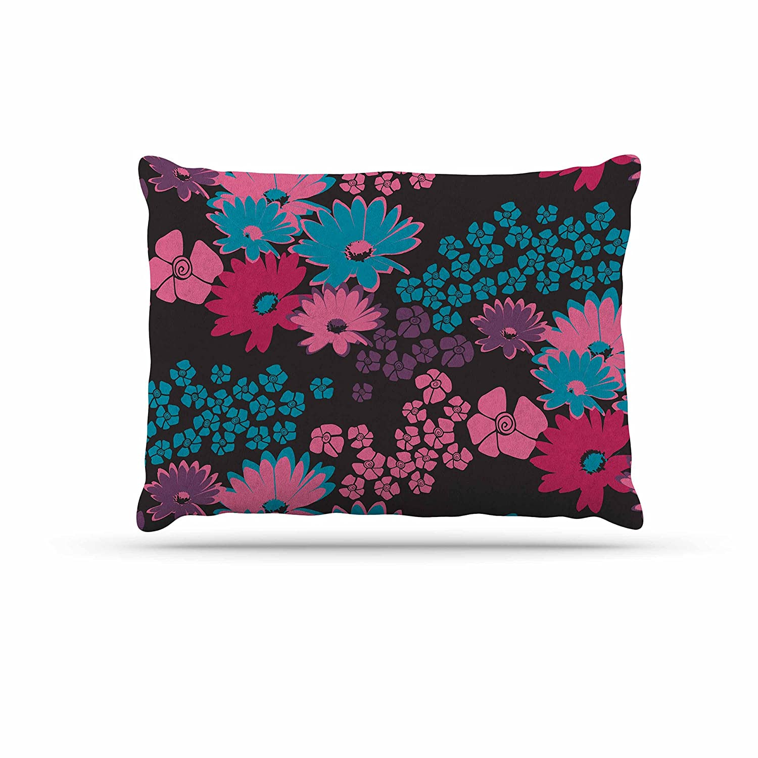KESS InHouse Zara Martina Mansen Berry color Bouquet Teal Pink Dog Bed, 30  x 40