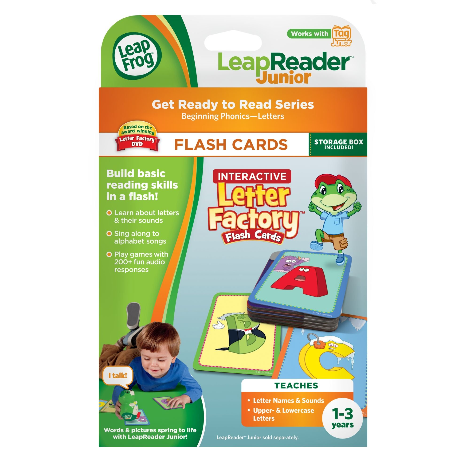 LeapFrog LeapReader Junior Interactive Letter Factory Flash Cards (works with Tag Junior) by LeapFrog (Image #6)