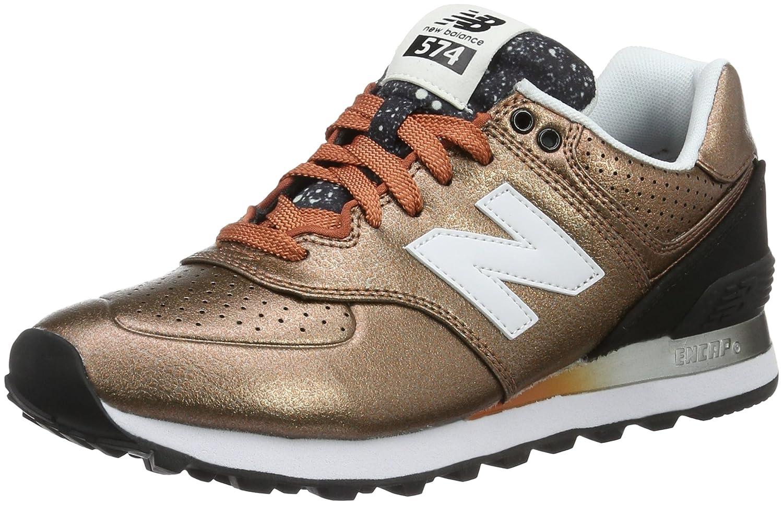 New Balance Women's WL574 CORE Plus-W Lifestyle Sneaker B019569AU0 6 B(M) US|Copper/Black