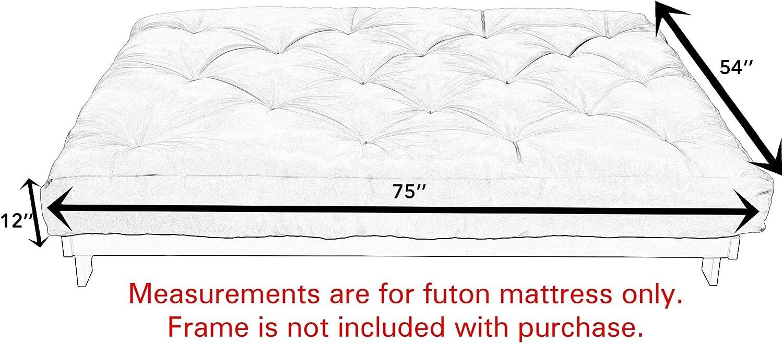 Humble and Haute Full Textured Grey 12-inch Futon Mattress