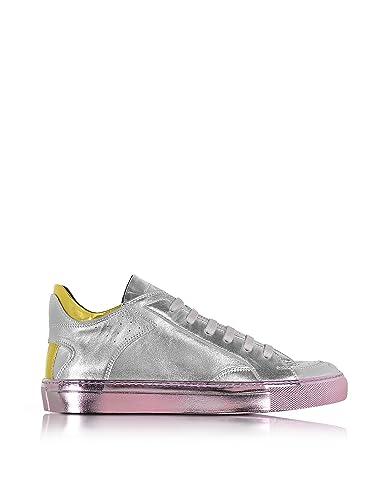 Damen Mm6 Maison Sneakers S40ws0054sy0409964 Silber Leder Margiela kOPiXZTwu