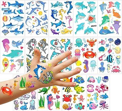 Phogary Tatuajes Temporales Para Niños (100 Piezas), Tatuajes ...
