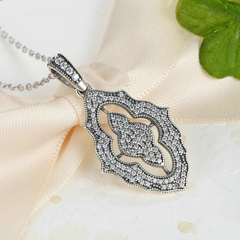 CS-DB Pendants Sparkling Lace Silver Necklaces