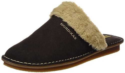 Nordikas Arizona, Zapatillas de Estar por casa con talón Abierto para Hombre, Marrón (Moka), 43 EU: Amazon.es: Zapatos y complementos
