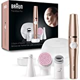 Braun FaceSpa Pro SE 921 Epilator – 3-in-1 Facial epilator, cleanser and skin toning system for salon beauty at home