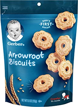 4-Pack Gerber Graduates Arrowroot Cookies Pouch, 5.5 Oz