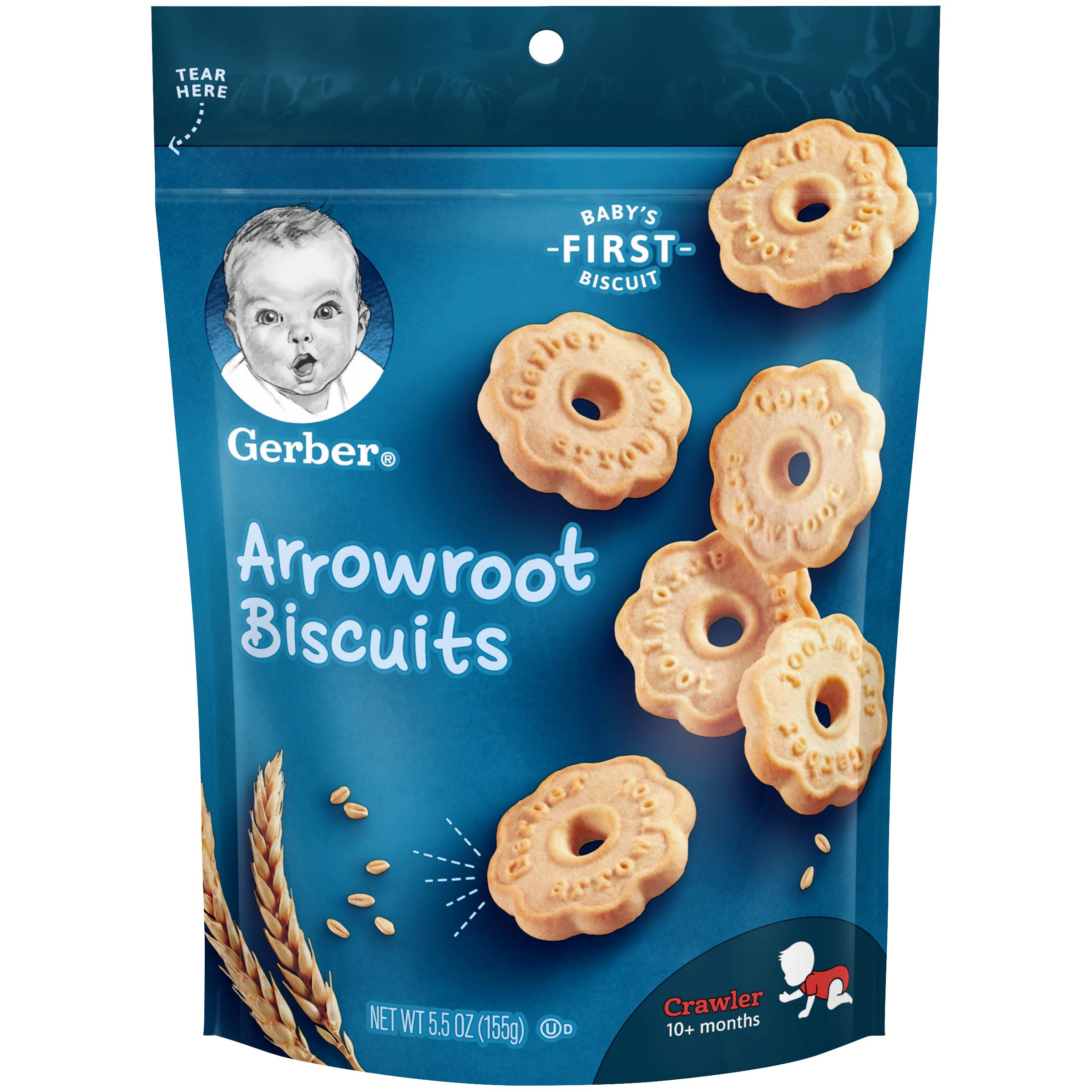 Gerber Arrowroot Cookies Pouch, 5.5 Ounce (Pack of 4)
