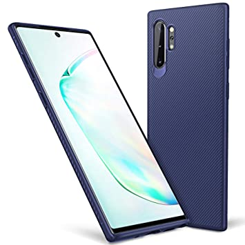 iBetter para Funda Samsung Galaxy Note 10+ /Note 10 Plus Funda, Fina de Silicona Funda, para Samsung Galaxy Note 10+ /Note 10 Plus Smartphone.Azul