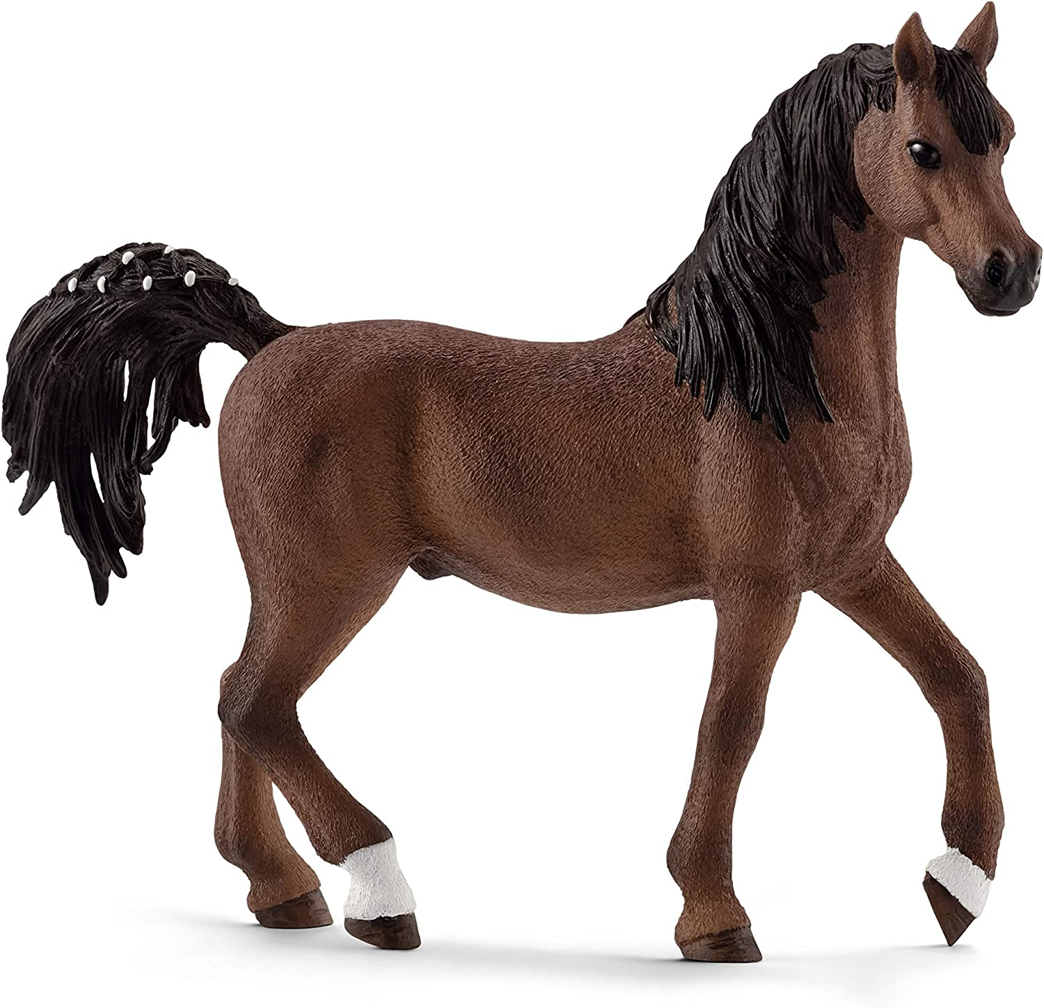 Schleich- Figura de Caballo, Semental Árabe, Color Marrón, 10,4cm