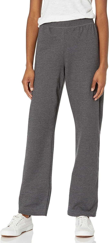 Hanes Women's EcoSmart Petite Open Bottom Leg Sweatpants